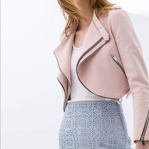 Zara Cropped Moto Jacket - XS